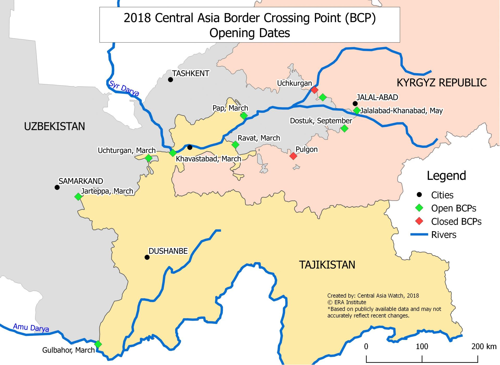 26 Routes in 2 Years: The New Transport Map of Central Asia – Voices ...