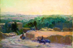 Evgeniya Maleina (1903-1984). Samarkand suburbs. Circa 1950-s. Oil on canvas laid on cardboard, 50х70 cm