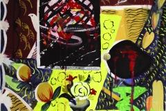 Kadyrzhan Turgunov (1950-1994). Vicissitudes of life. 1992 year. Oil on canvas. 80х80 cm