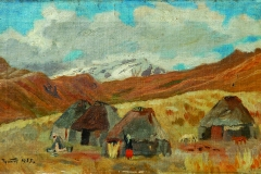 Semen Chuikov (1902-1980). Autumn landscape.1935 year. Oil on canvas.,32х52,5 cm