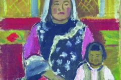 Semen Chuikov (1902-1980). Dungan woman.1929 year, Oil on canvas mounted on cardboard., 32х46 cm