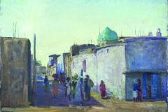Evgeniya Maleina (1903-1984). Samarkand. 1955 year. Oil on canvas laid on cardboard,50х70 cm