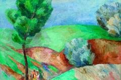 Dzhambul Dzhumabaev (1946-..). The spring. 1980 year. Oil on canvas, 100х100