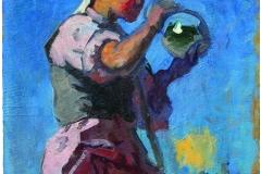 Semen Chuikov (1902-1980). Study for Farm Harvest painting.1948 year. Oil on cardboard,39х30 cm